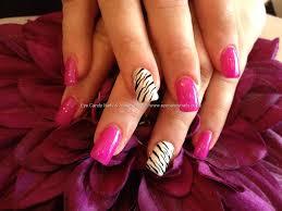 Eye Candy Nails & Training - Full set of acrylic nails with zebra ...