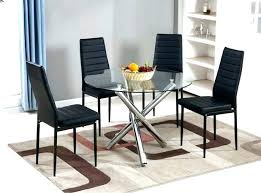 dining table 6 chairs extendable black glass seat and six inspiration decor furniture appealing d