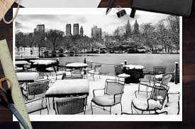 Lighted Central Park Canvas Wall Art New York City Central Park In Winter Art Prints Signs Canvas Tote More