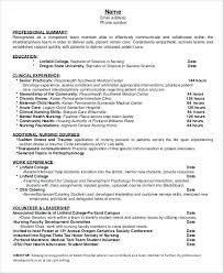 Resume Templates For Nurses Amazing Nursing Template Resume Eukutak