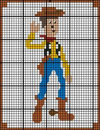 Toy Story Woody Granny Square Crochet Pattern