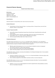 Cover Letter For Entry Level Financial Planner Cover Letter Example Free  Sample Resume Cover