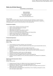 makeup artist resume exles makeup artist resume arts resume doc