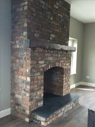 reclaimed brick feature fireplace with kilkenny limestone hearth reclaimed belfast bricks from period homes ni