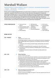 Cv Exemplars Waiter Waitress Cv Examples Templates Visualcv