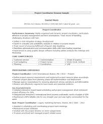 16 Free Samples Project Coordinator Resumes Best Resumes 2018