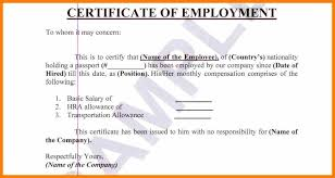 10 Certificate Of Employment With Compensation Weekly Template