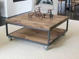 Square Industrial   Modern Coffee Table U2014 36