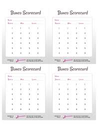Bunco Score Sheets Template Classy Free Bunco Scorecard Template Free Bunco Scorecard Template