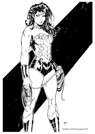 coloring page wonder woman superheroes 54 printable coloring pages