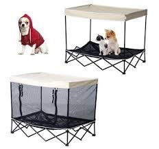outdoor pet bed puppy cat dog elevated foldable kennel instand camping shade bag