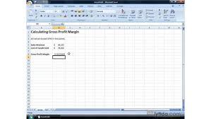 Gross Profit Formula Excel Calculating Gross Profit Margin And Net Profit Margin