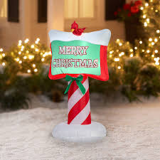 Candy Cane Yard Decorations Amazon Jolly 100100' Airblown Merry Christmas Inflatable Outdoor 57