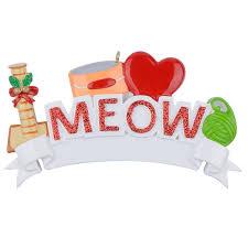 Großhandel Maxora Meow Woof Ich Liebe Meine Katze Hund Polyresin Personalisierte Haustier Christbaumschmuck Für Urlaub Andenken Geschenk Home Party