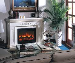 Palm Tree Decor For Living Room Modern Electric Fireplace For Small Living Room With Double Square