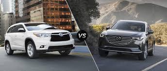 Toyota Highlander vs 2016 Mazda CX-9