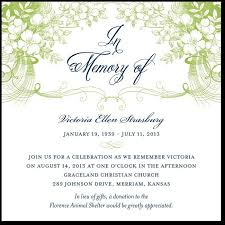 memorial service invitation 27 best memorial announcements images on pinterest card patterns