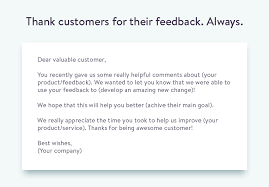 email template to ask for customer feedback