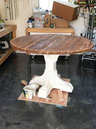 diy round table plans luxury stunning handmade rustic round farmhouse table by modernrefinement