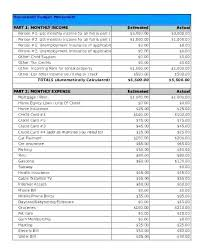Monthly Home Budget Template Family Expenses Template