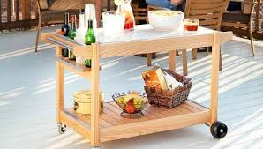 rolling bar cart plans serving