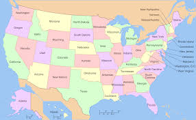 usa states map us america of and united on a  all world maps