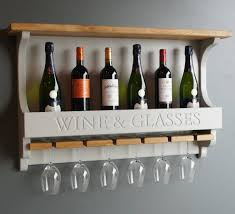 wall mounted wine rack with wine glasses holder by sworth cabinets notonthehighstreet com