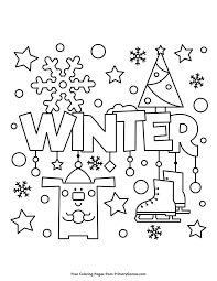 Free printable winter coloring pages. Pin On Winter