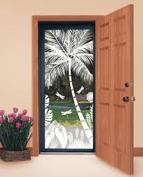 design your own tropical etched glass windows and doors