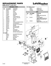 liftmaster rsl12v parts diagram