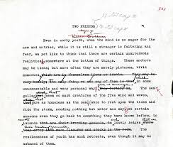 the composing editing and publication of willa cather s obscure  figure 8 edith lewis editing the opening paragraph of the setting copy typescript of ""