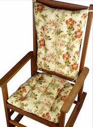 rocking chair cushions farrell sage prairie rose fl print latex foam fill reversible made in usa