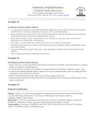 Summary Of Qualifications For Resumes Biomedical Engineering Resume Summary Templates At
