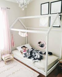 Toddler House Bed With Slats Montessori Furniture Montessori Room Farmhouse  Floor Bed Montessori Bed Toddler Bed