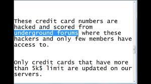 credit card hack credit card number generator 2018
