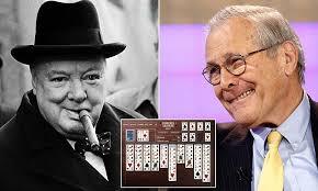 Donald Rumsfeld develops 'Churchill Solitaire' app after Winston ...