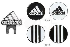 ball markers. adidas hat clip set with ball markers