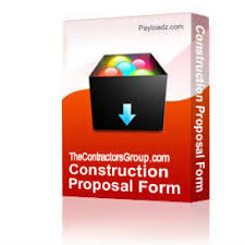 Construction Bid Form Construction Proposal Form Bid Form Estimate Form Style 5