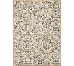 qvc area rugs fresh inspire me home decor designer vintage damask of photos improvement black