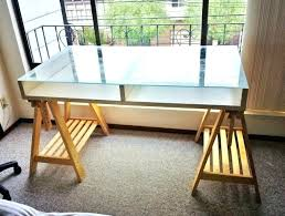 decoration desk top glass bayside white wood with
