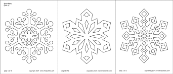 Some of the templates are very. Snowflake Coloring Pages Free Printable Templates Coloring Pages Firstpalette Com