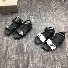 2019 classic new leisure sandals black and white leather sandals men daily use size 38 44 hot in pink shoes salt water sandals from fashion shoes168