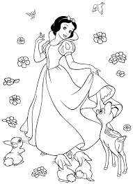 Small Picture Snow white coloring pages with forest animals ColoringStar