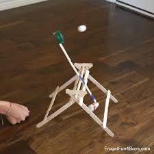 Trebuchet Catapult Design Plans Build And Test Your Own Craft Stick Trebuchet Frugal Fun