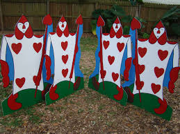 Alice In Wonderland Decoration One 4 Height Card Soldier Alice In Wonderland Party