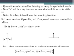 quadratics can be solved by factoring or using the quadratic formula now x will