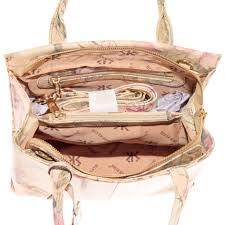 silver rose collection 100 leather handbag purse pink green fl print