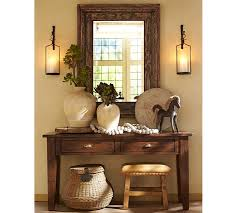 how to decorate a console table. Console Table Decorating. Artisanal Wall Mount Candleholder Pottery Barn How To Decorate A