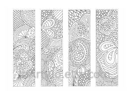 Small Picture Printable Bookmarks Coloring Page Zendoodle Zentangle