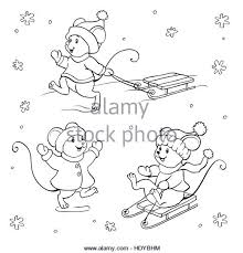 coloring book or page vector set with fanny mouses hdybhm outline vector vectors stock photos & outline vector vectors stock on house cleaning contract template